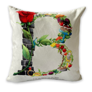 alphabet letter b decorative pillow gift idea for her