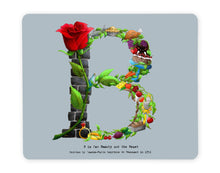 Load image into Gallery viewer, letter b personalised placemat childrens gift idea