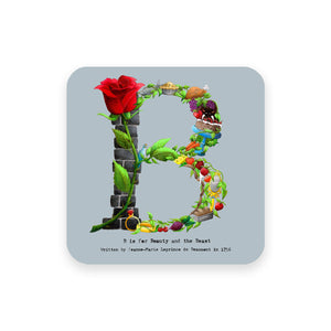 personalised gift idea alphabet coaster letter b
