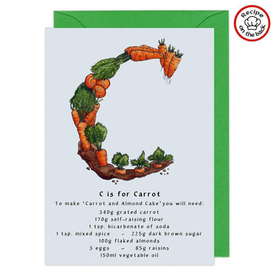letter c personalised birthday card