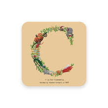 Load image into Gallery viewer, personalised gift idea alphabet coaster letter c