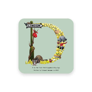 personalised gift idea alphabet coaster letter d
