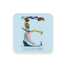 Load image into Gallery viewer, personalised gift idea alphabet coaster letter e