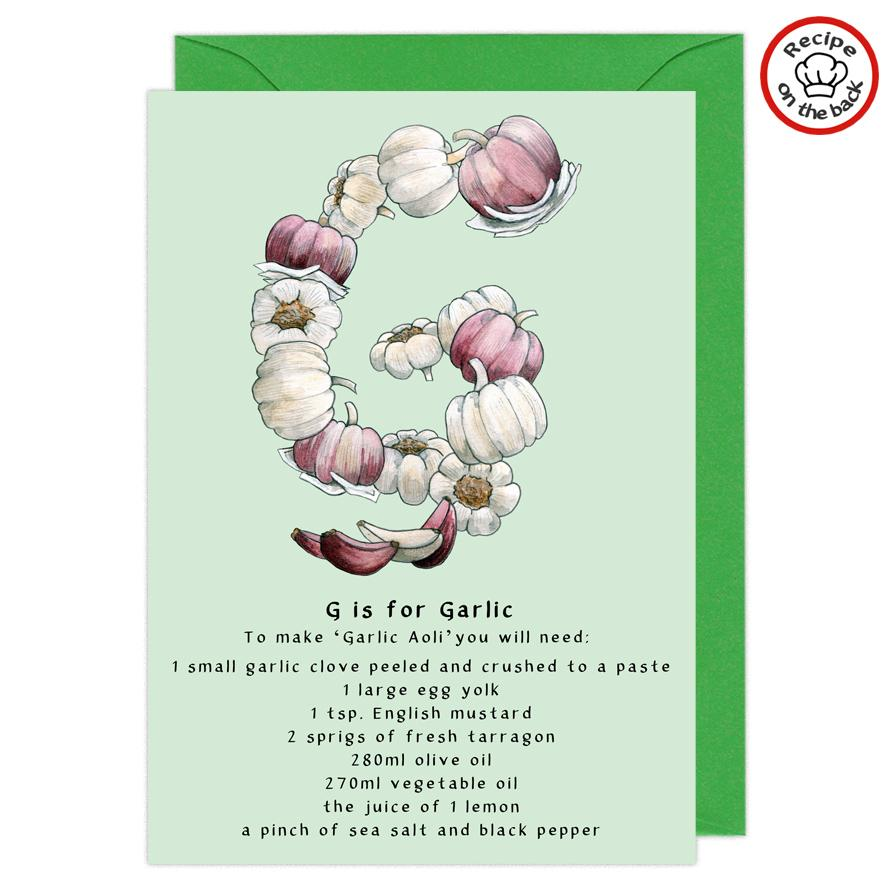 letter g personalised birthday card