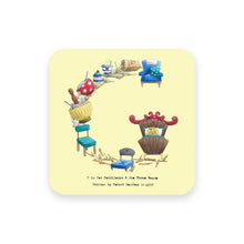 Load image into Gallery viewer, personalised gift idea alphabet coaster letter g
