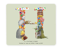 Load image into Gallery viewer, letter h alphabet placemat wedding gift idea for a family