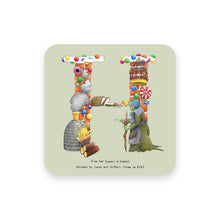 Load image into Gallery viewer, personalised gift idea alphabet coaster letter h