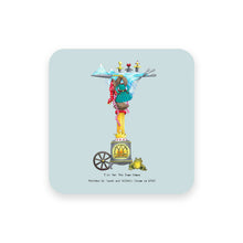 Load image into Gallery viewer, personalised gift idea alphabet coaster letter i