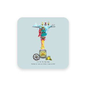 personalised gift idea alphabet coaster letter i