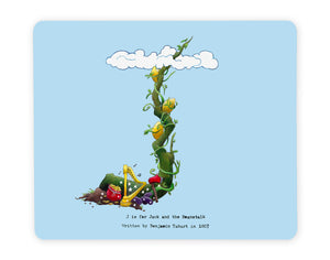jack and the beanstalk letter j fairy tale placemat