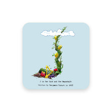 Load image into Gallery viewer, personalised gift idea alphabet coaster letter j