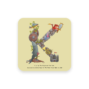 personalised gift idea alphabet coaster letter k