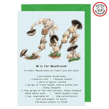 Load image into Gallery viewer, letter m personalised birthday card