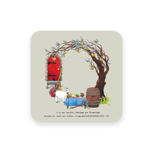 personalised gift idea alphabet coaster letter o