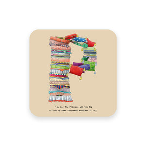 personalised gift idea alphabet coaster letter p