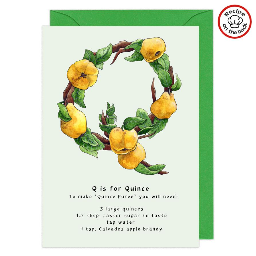 letter q personalised birthday card
