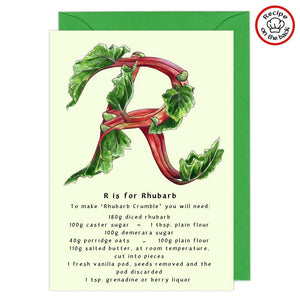 letter r personalised birthday card