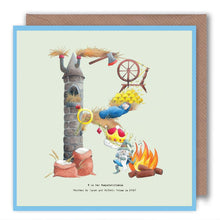 Load image into Gallery viewer, letter-r-birthday-card-for-children