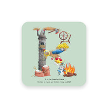 Load image into Gallery viewer, personalised gift idea alphabet coaster letter r