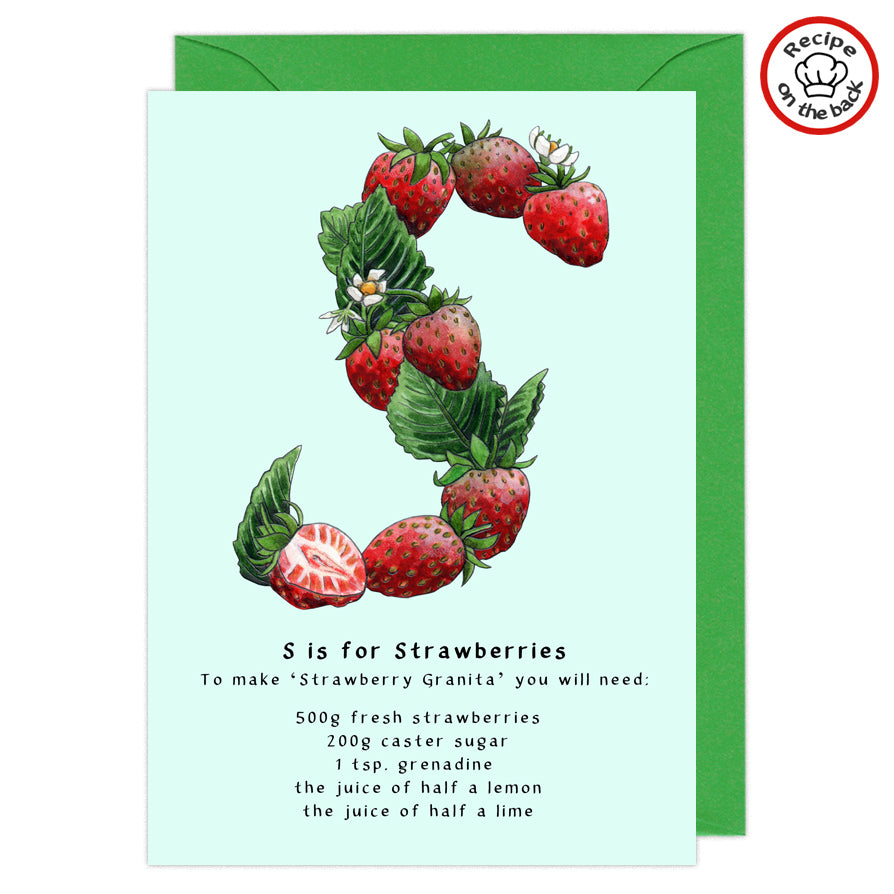 letter s personalised birthday card