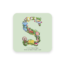 Load image into Gallery viewer, personalised gift idea alphabet coaster letter s
