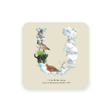 Load image into Gallery viewer, personalised gift idea alphabet coaster letter u