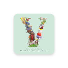 Load image into Gallery viewer, personalised gift idea alphabet coaster letter v