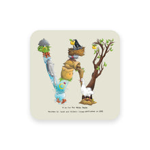 Load image into Gallery viewer, personalised gift idea alphabet coaster letter w