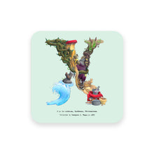 Load image into Gallery viewer, personalised gift idea alphabet coaster letter x