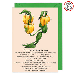 Recipe Greeting Cards - Every Letter Available
