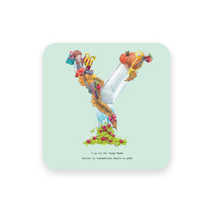 personalised gift idea alphabet coaster letter y