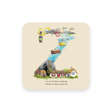 Load image into Gallery viewer, personalised gift idea alphabet coaster letter z