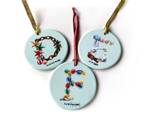 personalised ceramic Christmas tree ornaments gift idea for children