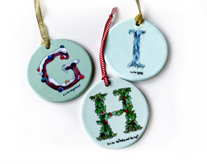 personalised babies first Christmas tree decoration