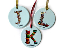 Load image into Gallery viewer, secret santa gift idea for her alphabet ceramic christmas tree decorations