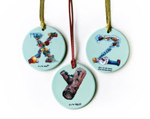 Load image into Gallery viewer, personalised christmas gift idea for kids ceramic tree ornaments for the christmas tree