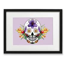 Load image into Gallery viewer, spring inspired sugar skull wall art