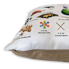Load image into Gallery viewer, The Magical Alphabet Faux Suede Cushion