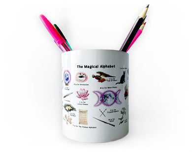 the magical alphabet pencil pot