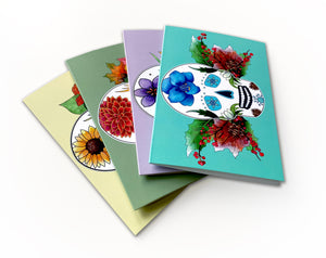 Seasonal Sugar Skull Greeting Cards