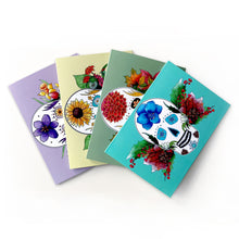 Load image into Gallery viewer, day of the dead seasonal sugar skull note cards
