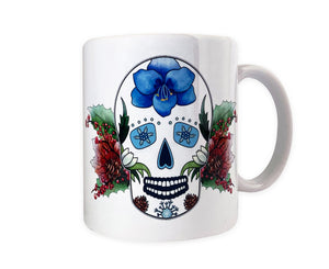 winter gothic home decor sugar skull mug