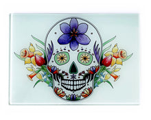 Load image into Gallery viewer, day of the dead sugar skull cutting board