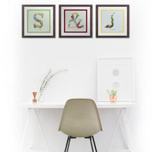 Load image into Gallery viewer, personalised wedding present initial prints. & symbol wall art for couples