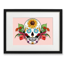 Load image into Gallery viewer, pink skull poster