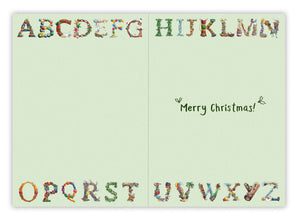 P is for Presents Christmas Card