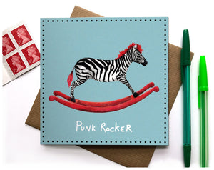 funny greeting card for her punk rocker