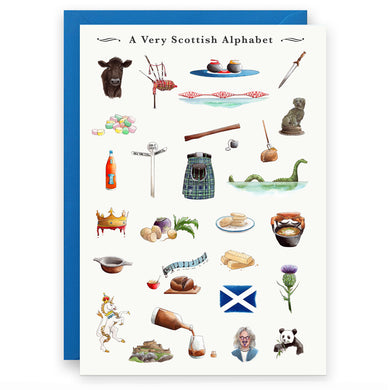 scottish greeting card for someone living in scotland in the uk