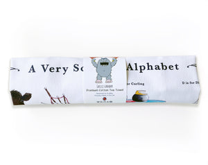scottish alphabet tea towel moving gift idea scotland