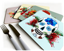Load image into Gallery viewer, gothic home gift idea with skull print set of 4 colours